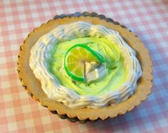 Large Keylime magnet pie miniature food in polymer by KamyaDelight Miniature Food, Magnets, Polymer Clay, Miniatures, Pie, Desserts, Torte, Tiny Food, Cake