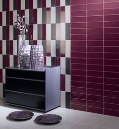 Rhian Tiles - an updated colour palette of stylish brick-effect wall tiles with both matt and gloss finishes. These tiles are suitable for all domestic and commercial applications. For fashionable design select 3 or 4 corresponding colours to create your own unique blend, fixed in a brick-bond design pictured.    As featured on Channel 4's Grand Designs, the wide array of colours available in the Rhian Tiles range offers endless design options.