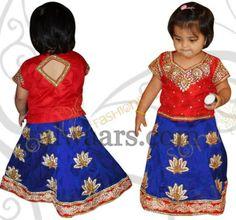 424b26f50 18 Best Kids Half Saree images | Half Saree, Kid parties, Kids party ...