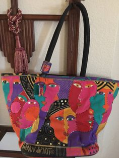 Laurel Burch Abstract woman Spirit Bag Tote , A personal favorite from my Etsy shop https://www.etsy.com/listing/579121564/abstract-women-spirit-purse-tote-bag