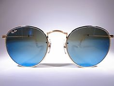 BAUSCH LOMB RAY BAN ROUND BLUE MIRROR MADE IN USA