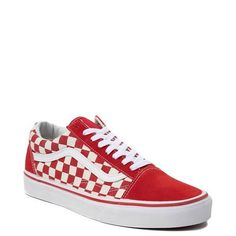 Vans Checkerboard Slides Homme Chaussures Rhumba Red & White