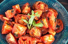 Satisfy a need for Italian food or just enjoy a delicious side dish with these easy roasted tomatoes.