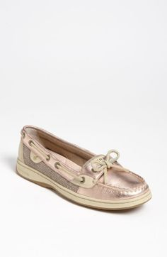 pink metallic sperry's