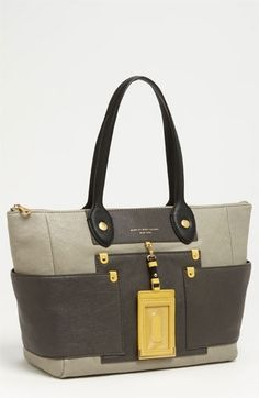 MARC JACOBS 'Preppy Colorblock' Leather Tote