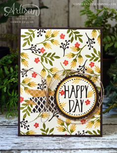 Card designed by Artisan Design Team member, Connie Collins using the Love and Affection stamp set. #fancyfriday