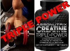 Absonutrix Creatine Triple Power 5000mg - 120 Tablets Xtreme Stamina - Xtreme Strength - Xtreme Endurance by Absonutrix Creatine Triple Power. $2.99. Using Absonutrix Creatine Triple Power, your goals are within reach quicker than you can imagine!!!. Xtreme Stamina - Xtreme Strength - Xtreme Endurance. Builds Muscle and Strength - Stamina To Go the Distance - Longer Workouts While Finishing Strong!!!. The combination of Creatine Monohydrate Phosphate and Pyruvate a…