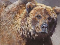 Group of Artwork Grizzly Bears Bear Paintings, Wildlife Paintings, Wildlife Art, Masculine Art, Nature Animals, Draw Animals, Exotic Animals, Bear Pictures, Bear Art