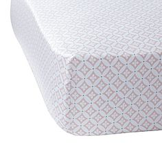 Pink Florentine Crib Sheet.  Pink with mocha accents.  So pretty!