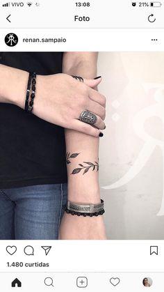 Tattoo Arm Bracelet 17 Ideas For 2019 Source tattoo designs, tattoo, small tattoo, meaningfu Vine Tattoos, Wrist Tattoos, Arm Tattoo, Body Art Tattoos, Sleeve Tattoos, Ankle Tattoo, Mandala Tattoo, Tattos, Trendy Tattoos