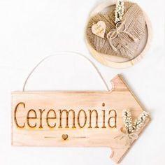 Flecha señalizacion ceremonia boda: derecha