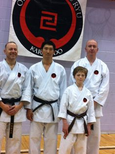 Left to right me Nakamura Sensei , mason & Sean