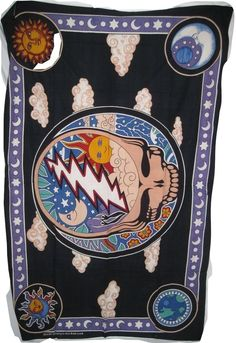 SYF Space Yoour Face Grateful Dead Tapestry Nwt 54x86 steal your face #QUARKS