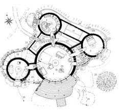 Discover recipes, home ideas, style inspiration and other ideas to try. Concept Models Architecture, Baroque Architecture, Concept Architecture, Architecture Design, Cob House Plans, Round House Plans, Earthship Plans, Home Layout Design, Hexagon House