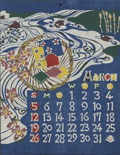 katazome - i have my grandmother's old calendars