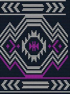 Muster für die IV Wayuu mochila