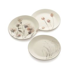 Wildflower Thistle Plate | Crate and Barrel