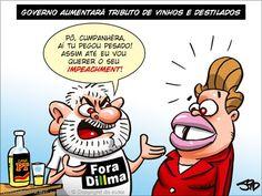Dilma quer aumentar o imposto sobre a cachaça!...