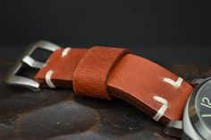 MA watch strap 26 24 22 mm Genuine Vintage BUFFALO Leather
