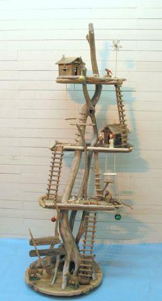 大型流木ツリーハウスオブジェ    - 流木アート                                                                                                                                                                                 もっと見る