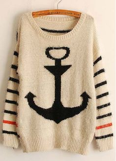 Autumn Essential Long Sleeve Round Neck Sweaters with Print
