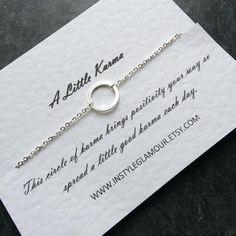 Eternity Necklace Karma Necklace Silver Eternity by Instyleglamour