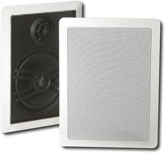 "Yamaha - Natural Sound 6-1/2"" 3-Way In-Wall Speakers (Pair) - White, NS-IW470WH"