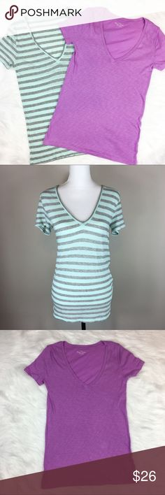 J.Crew Factory Vintage Cotton Tee Bundle J.Crew Factory vintage cotton grey and light blue & purple tee shirt bundle. Size small. Approximate measurements flat laid are 23' long and 16' bust. GUC with no major flaws on either tee. ❌No trades ❌ Modeling ❌No PayPal or off Posh transactions ❤️ I 💕Bundles ❤️Reasonable Offers PLEASE ❤️ J. Crew Factory Tops Tees - Short Sleeve