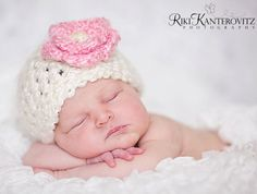 Gorgeous Baby Hat Baby Girl Hat Baby Valentines Day от PamKR