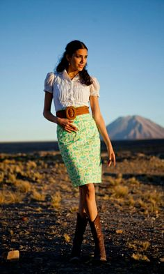 Humboldt Current Skirt {On Sale} $35.20 ♥ Adore this retro-inspired pattern!