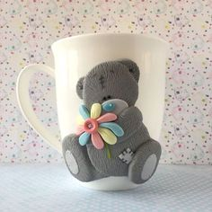 Картинки по запросу чашка декор из полимерной глины