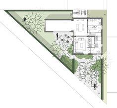 tuinarchitect_steyaert_brussel_tuinplan Brussel, Presentation Boards, Landscape Design, Life Is Good, Entrance, Architecture Design, Floor Plans, Houses, Urban