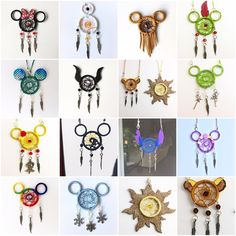 mini Disney dreamcatchers - New Ideas Cute Crafts, Crafts To Sell, Diy And Crafts, Crafts For Kids, Arts And Crafts, Geek Crafts, Mini Disney, Disney Dream, Disney Disney
