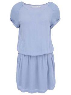 YAYA - Modré šaty s krátkými rukávy - 1