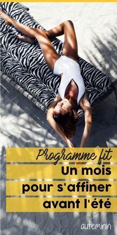 Le compte à rebours est lancé : suis notre programme pour être super fit avant l'été ! /// #aufeminin #fitness #minceur #programme #régime