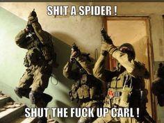 #GottaLoveCarl #SorryForTheBadWords #Spiders