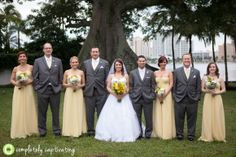 Yellow and gray bridal party colors. Yellow and gray wedding colors.  Completely Captivating Photography {the blog}