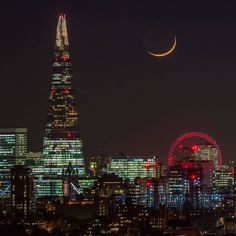 Moonlit #London by the talented @londonfromtherooftops. Take a look at his stunning gallery for more beautiful shots of the capital's iconic skyline #visitlondon #cityscape by visitlondonofficial