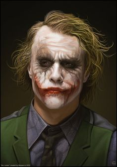 Heath Ledger as Joker in 'The Dark Knight' - Joker Batman, Joker Heath, Joker Y Harley Quinn, Der Joker, Joker Art, Batman Art, Gotham Batman, Batman Robin, Ben Batman