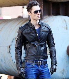 Free Shipping.DHl biker Brand winter fashion men genuine leather jacket clothing,cool slim jackets,man motorbiker warm coat #wintercoatsfashion