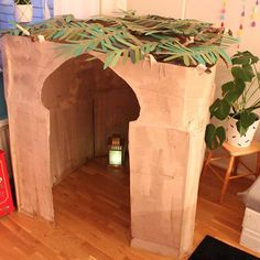 Our BIG craft project this Ramadan, a mini mosque!