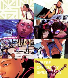 Miles Morales (Ultimate Spider-Man) Comic Book Heroes, Comic Books, Sara Pichelli, Miles Morales Spiderman, Cosmic Comics, Black Characters, Spiderman Art, Spider Verse, Amazing Spider