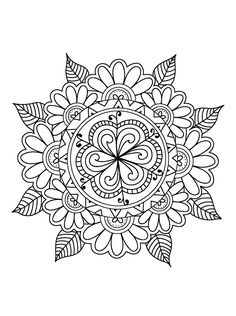 Colouring Pages Coloring Mandala Quote Mandalas Printable