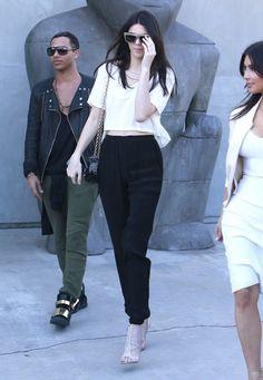 Olivier Rousteing, Kendall Jenner & Kim Kardashian in LA
