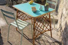 Table vintage en rotin des années 60 – 45€ - Luckyfind