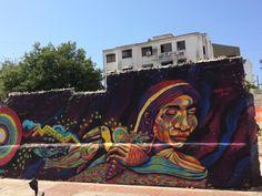 Santa Marta street art by Guache (Colombia) #graffiti #steetart #Colombia