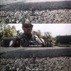 Ant Man: He can see me!