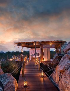 Lion Sands Ivory Lodge in Kruger, South Africa, offers a modern, romantic and dynamic safari experience with top-notch wildlife. If your looking for the perfect honeymoon look no further. places in south africa Romantic Places, Beautiful Places To Travel, Dream Vacations, Vacation Spots, Travel Aesthetic, Africa Travel, Cabana, Places To See, Hotels
