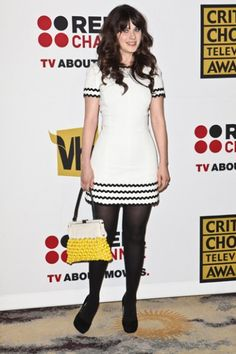 Critics Choice Television Awards  Bag by Marni - Spring 2011. Dress by Andrew Gn.
