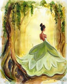 Pixar Drawing Tiana Fine Art Quality Print (Multiple Sizes) - Tiana Print in multiple sizes. Each print comes hand signed by the artist. Disney Paintings, Disney Artwork, Disney Drawings, Cartoon Drawings, Cartoon Pics, Princesa Tiana, All Disney Princesses, Disney Princess Art, Frog Princess